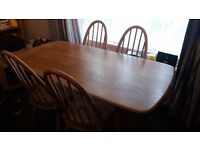 Ercol dining table and chairs. **i can deliver**