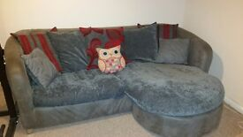 Red and Grey Sofa