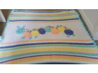 Caterpillar crochet blanket