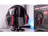 VENOM MARAUDER 7.1 Virtual Surround Sound Vibration Gaming Headset PS4 XB1 PC Excellent Condition
