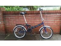 Lightweight alloy fold up bike