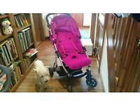 Hot Pink Mamas and Papas Luna Pushchair