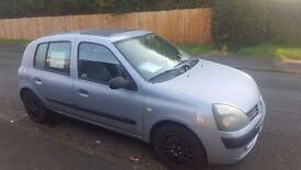 Clio diesel 5 door . £30 year car tax.