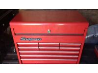 Snap on top box and tools