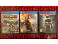 3x PS4 games (Battlefield 1/One, Uncharted 4, Transformers Devastation)
