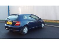 HONDA CIVIC 1.4 LITRES MANUAL IN VERY GOOD CONDITION. LONG MOT. 3 OWNERS. ALL PREVIOUS MOT AVAILABLE