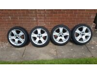 """Bmw mini r50 r52 r53 cooper s 17"""" bullet alloys and tyres x4"""