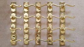 Georgian brass lever door handles