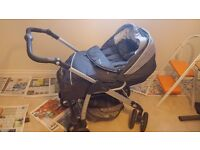 Silvercross cargo sx1877 grey 2 in 1 pushchair