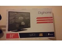 """HD ready, LED, 32"""" TV. Freeview and remote control"""