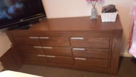 Excellent condition large sideboard with matching shelving unit.