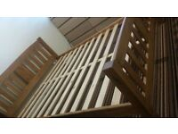 Solid pine wooden kingsize bed with Memory Foam Mattress