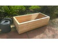 large chunky scaffold board planter box made