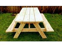 New rustic picnic table