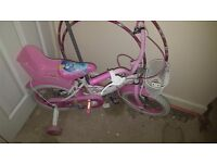 Girls 14inches disney princess bike. Immaculate condition. Only used a handful of times