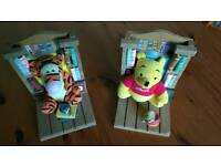 Winnie the Pooh and Tigger book ends
