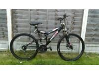 Mens front disc brake mountain bike
