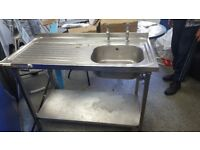 Commercial sink with tap