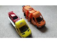 Large Plastic Bin Lorry and Pick up Truck and Car