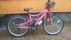 Womens/girls full suspension mountain bike,bmx,push bike