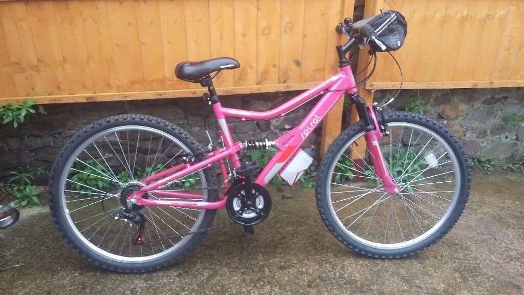 Womens/girls full suspension mountain bike,bmx,push bike