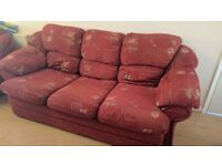 Sofa & 2x Armchairs