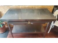 1.2m Stainless Steel table with drawers