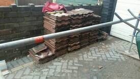 Loads of double pan roof tiles free