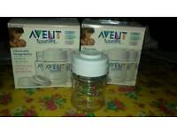 Avent breast milk storage bottles
