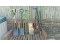 X 7 assorted garden hand tools selling due to health