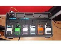 BOSS BCB-60 pedalboard and pedals