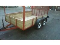 10x6 trailer double axle with load ramp
