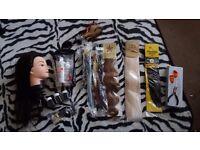 Hair Extension Accessories & Training Dolls Head