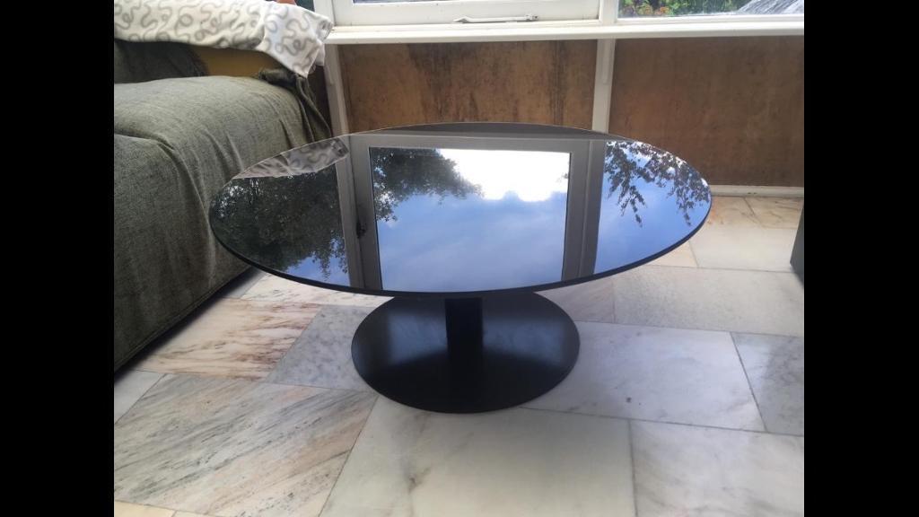 Habitat Black Glass Circular Coffee Table