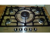 Double electric oven and NEFF gas hob