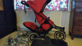 Phil and Ted double buggy V2, Rain cover, Cacoon . Selling at bargain price due to broken brake