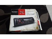 Sony car radio with front aux and cd player
