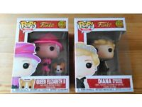Brand New Funko Pop Vinyl Figures - Queen Elizabeth II and Princess Diana
