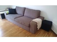 Ikea Kivik 3-seater sofa and covers, 1 year old, grey/brown