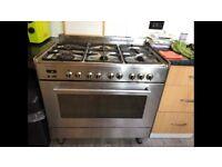 Delonghi range Dual Fuel cooker oven 90cm gas hob electric oven