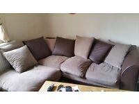 Brown Corner sofa in good condition