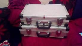 Matching pair aluminium tool box cases