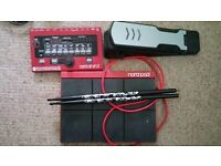 Nord Drum 2, Nord Pad, kick pedal and sticks