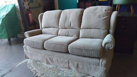 G-plan highback 3 seater fabric sofa