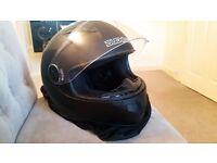 Motor bike helmet jacket and gloves