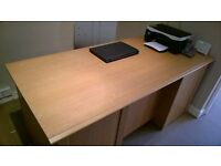 DOUBLE PEDESTAL DESK WITH DRAWERS