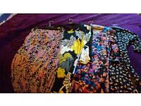 Ladies dresses, tunic and skirt. Size 8