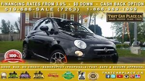 2015 Fiat 500 Sport-$40/Wk-Bluetooth-AUX/USB/CD/Mp3-Cruise-AC