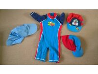 18-24 months baby boys clothes swimming suit and summer hat bundle