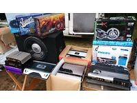new and used car amplifiers, speakers, subwoofer, radio for sale, call for prices